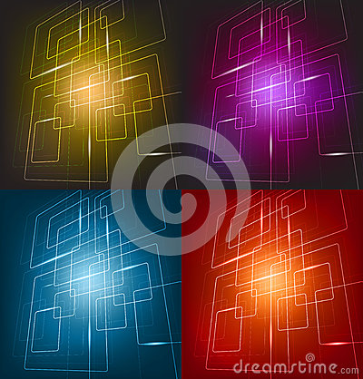 Free Four Colorful Background Stock Image - 27178251