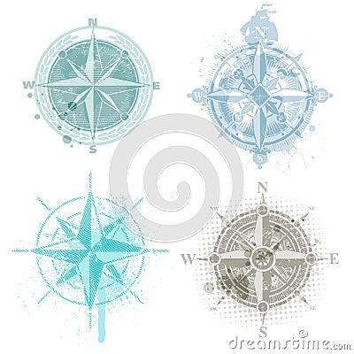 Four compass rose