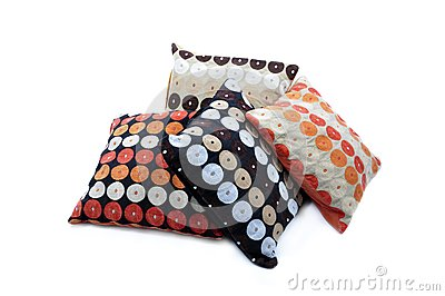 Four cushions with texture