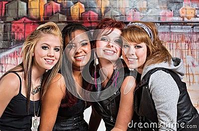 Four Cute Teens