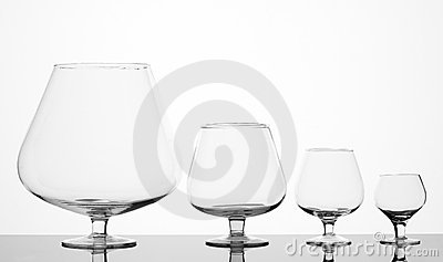 Four different glasses