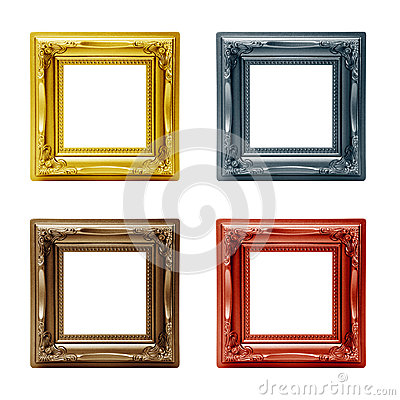Four different picture frames
