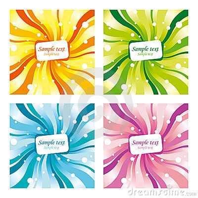 Four differently coloured backgrounds