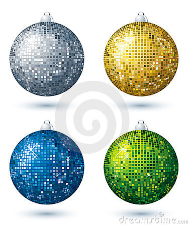 Free Four Disco Balls, Vector Stock Images - 3671454