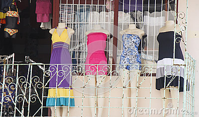 Four Dresses on Balcony