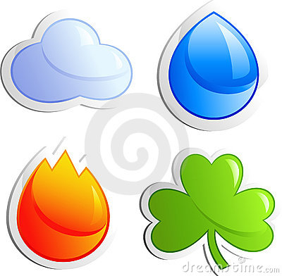 Free Four Elements Royalty Free Stock Photo - 8423185