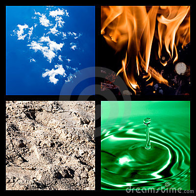 Free Four Elements Collage Royalty Free Stock Images - 13200579