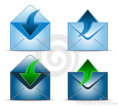 Four envelope icons