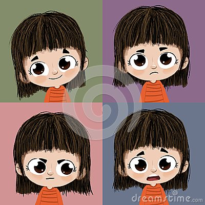 Four expressions Stock Photo