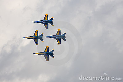 Four F/A-18s preform a flyby Editorial Image
