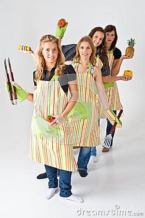 Four Female Cooks