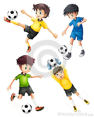 Free Four Football Players Stock Photos - 33073393