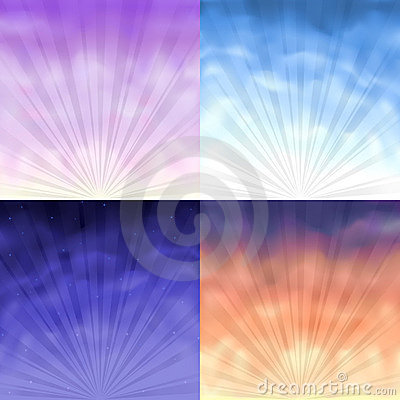 Four gradient mesh backgrounds