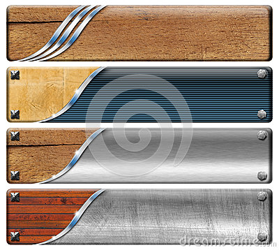 Four Horizontal Vintage and Modern Headers
