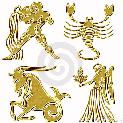 Four horoscope symbols