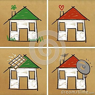 Four houses & home