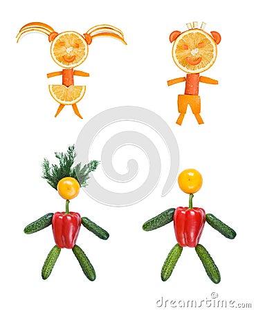 Four human figures