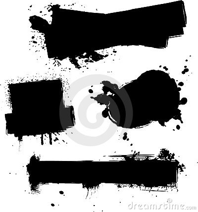 Four Ink Splat Stock Images - Image: 2472524