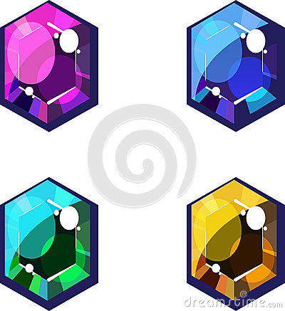 Four Colorful Jewels
