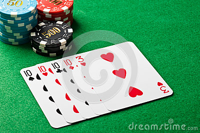 Four of a kind poker game