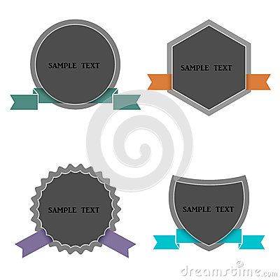 Four labels in retro style