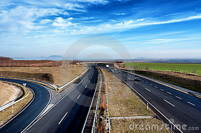 Four-lane motorway leads across the country
