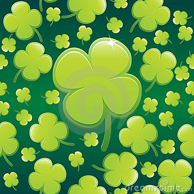 Four Leaf Clover Background EPS