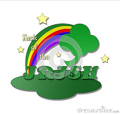 Four Leaf Clover with Rainbow