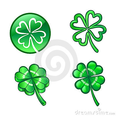 Four Leaf Lucky Clover Royalty Free Stock Photography - Image: 13162737