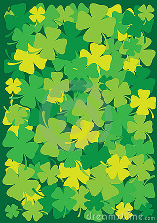 Four Leaf shamrock background for St.Patricks Day