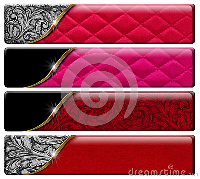 Free Four Luxury Headers With Clipping Path Stock Photography - 32411582