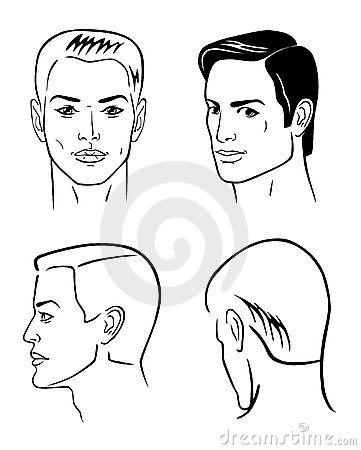 Four man heads