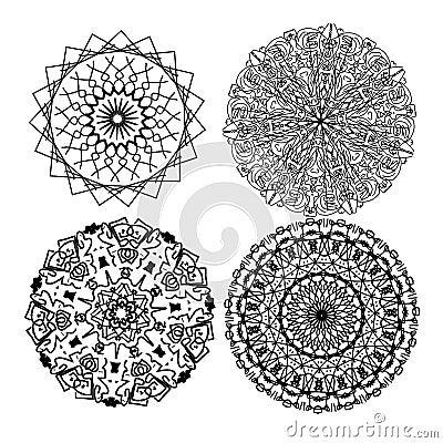 Four mandalas
