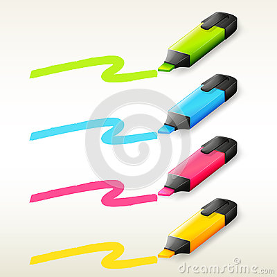 Free Four Markers In Different Colors Stock Photo - 33096880