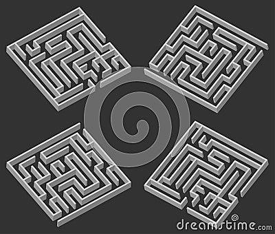 Four maze 3d