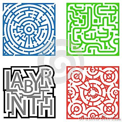 Four Mazes