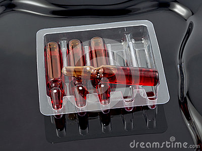 Four medical ampoules