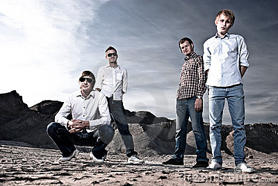 Four men outdoors