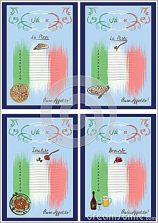 Free Four Menus Colored Stock Photo - 22834990