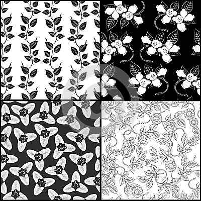 Four monochrome pattern