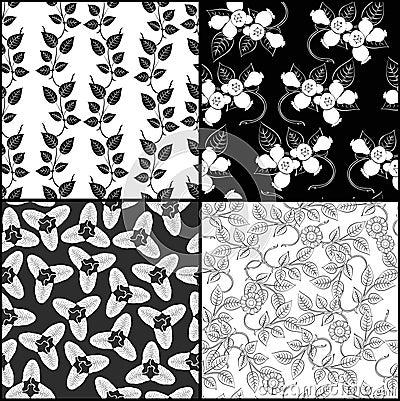 Four monochrome pattern