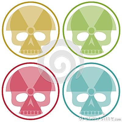 Four nuclear skulls