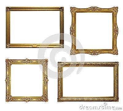 Four old antique frame - set