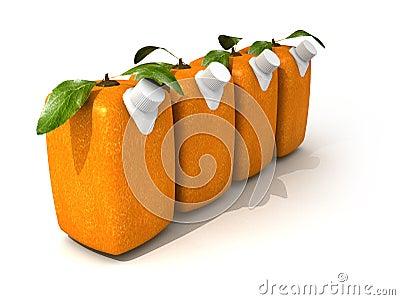 Four orange juices