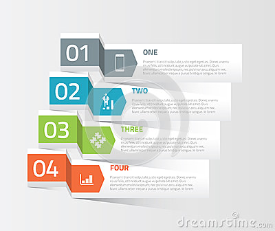 Four Origami Paper Infographic Option Elements Vec Royalty Free ...