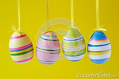 Four ornate easter eggs