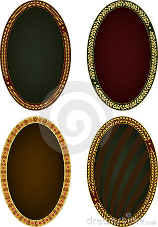 Four oval frames