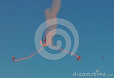 Four parachutes