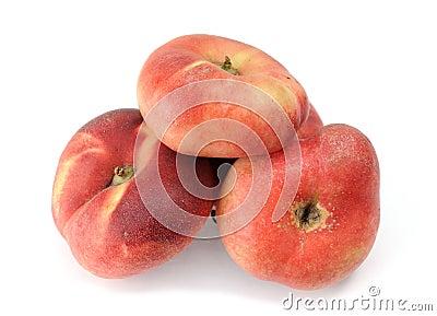 Four paraguayos flat peaches