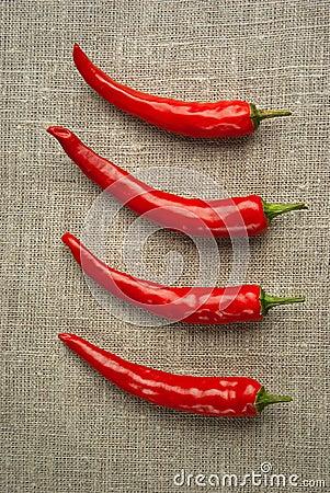 Four pepper row